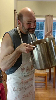 Making da sauce!