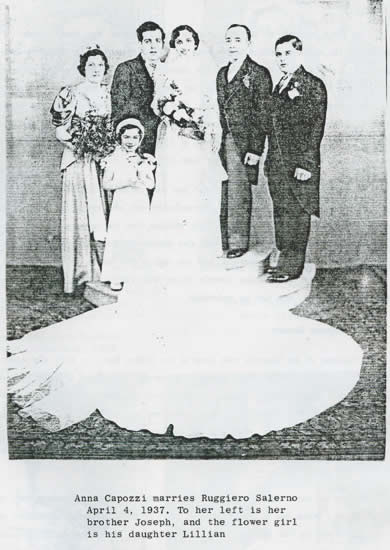 grandma and grandpa Salerno wedding photo