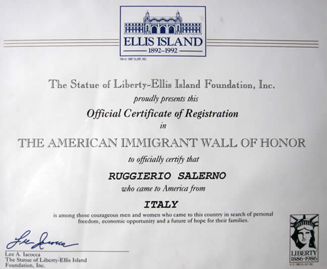 Ellis Island Plaques
