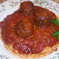 Pasta Sauce and Meatballs Plate