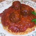 Spaghetti Sauce and Meatballs plate