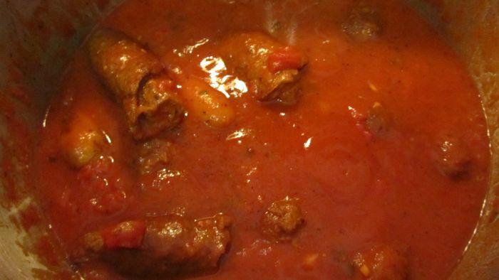pot of sauce - the Sunday gravy