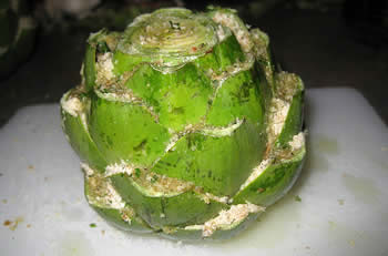 artichoke prior to steaming