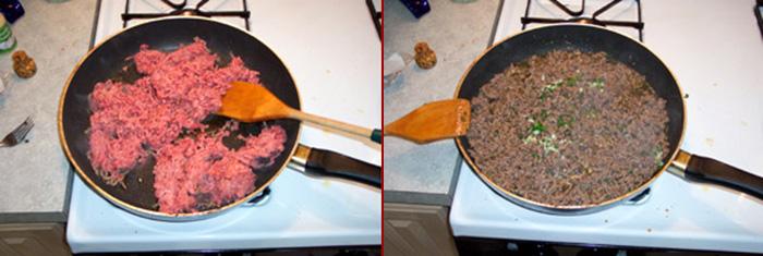 Spaghetti sauce meat sauce