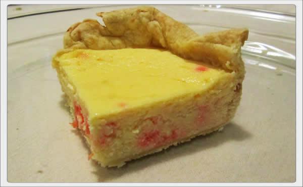 ricotta cheese pie w cherries