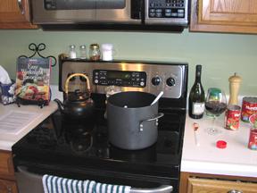 Making the Sunday Pasta sauce!