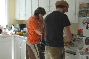 Making the Sunday Gravy! Hard at work!