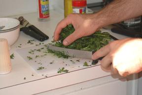 Fresh parsley, very important!