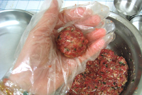 The first meatball!